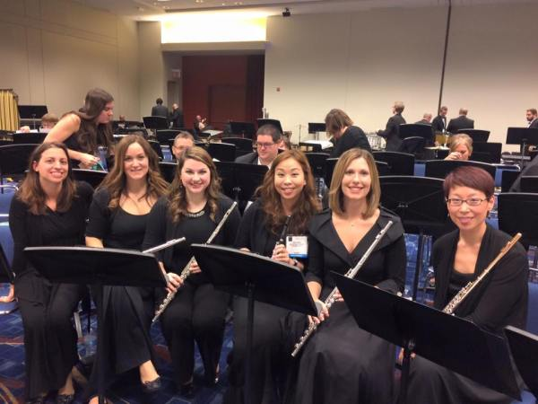 Eastern Wind Symphony flutes before our Midwest performance!