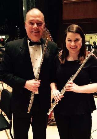 Performing 2nd flute at the Harrisburg Symphony with my mentor and friend, David DiGiacobbe